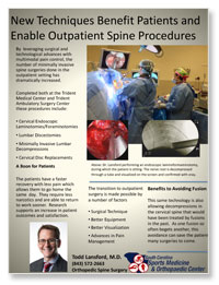 Outpatient Spine Procedures Flyer